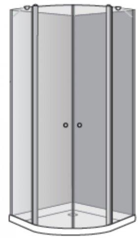 שרטוט מקלחון דונה R 5005