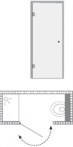 שרטוט מקלחון וינה סטודיו 180 8180