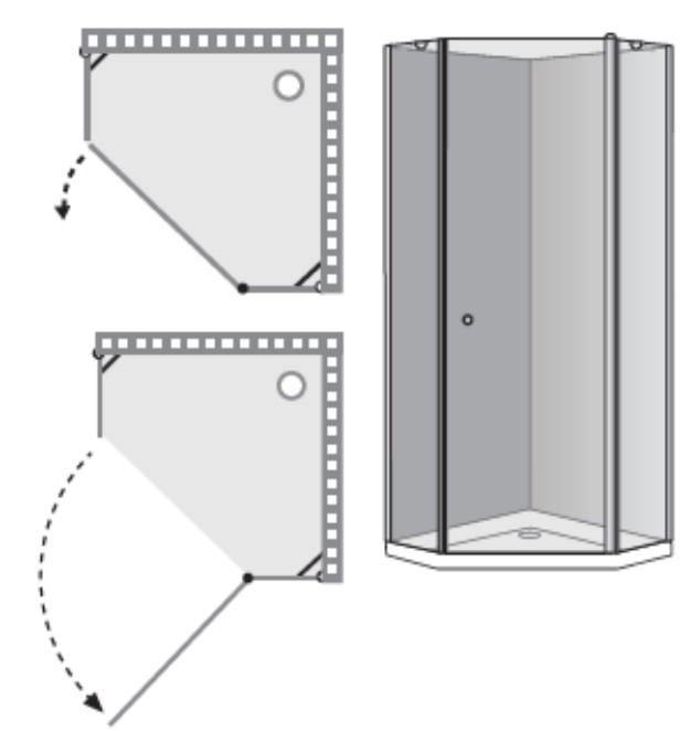 """שרטוט מקלחון A-Leonardo מק""""ט 5003"""