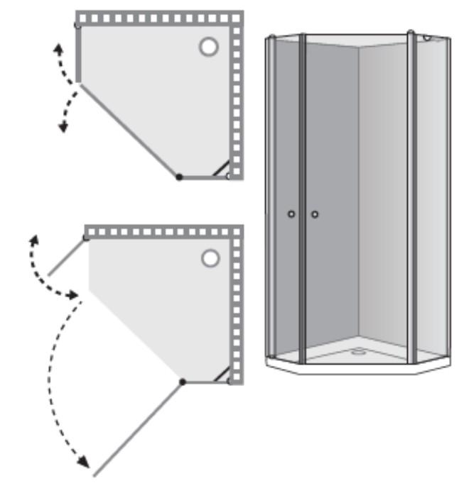 """שרטוט מקלחון D-Leonardo מק""""ט 5005"""