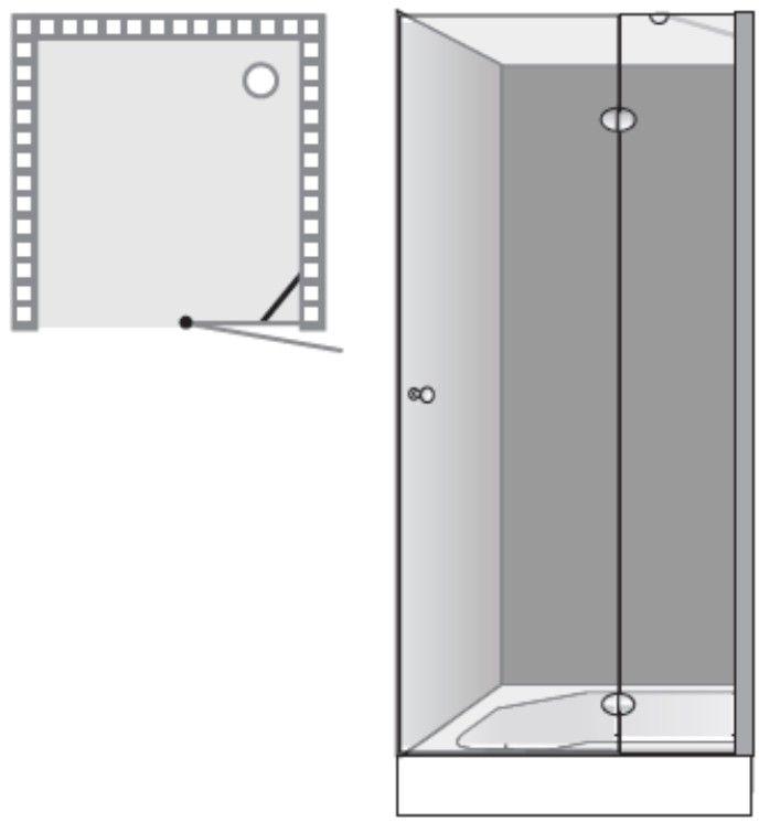 שרטוט מקלחון שטרן דגם אומגה F 3006