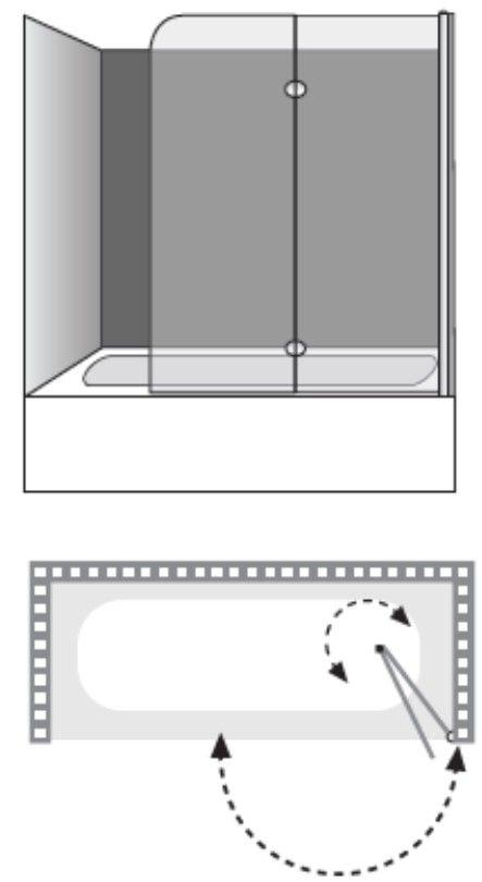 """שרטוט מקלחון Omega Li מפואר A מק""""ר 7406"""