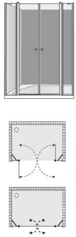 שרטוט מקלחון שטרן דגם גימיני 2W 3004
