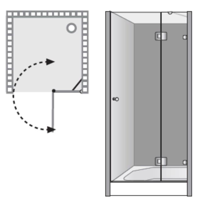 שרטוט מקלחון שטרן דגם נאפולי 8600