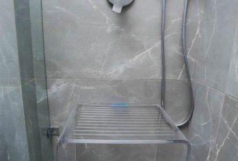 ספסל יוקרתי דמוי זכוכית - מקט 310 (רוחב 50, עומק 35, גובה 45)