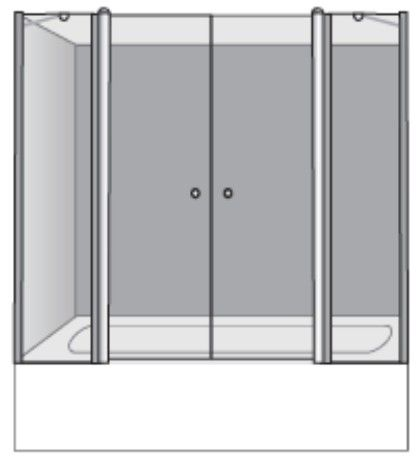 שרטוט מקלחון ליברה 2X2 4008