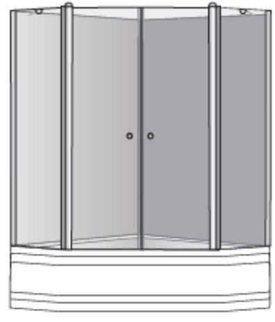 שרטוט מקלחון מקלחון ליברה 2X2 K 4012