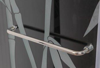 """מתלה מגבות קשתי על דלת / קבוע מק""""ט 101 - בגימור ניקל מגיע במידה קבועה (30/40/50/60) ס""""מ"""