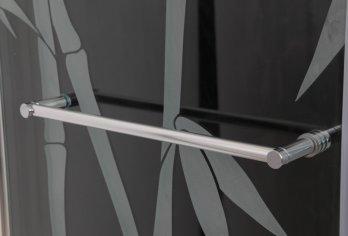 """מתלה מגבות על דלת/קבוע מק""""ט 102 - בגימור ניקל מבריק ניתן להזמין בכל מידה עד 70 ס""""מ"""