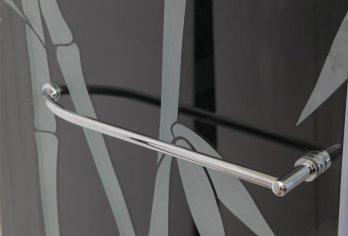 """מתלה מגבות מעוגל על דלת/קבוע מק""""ט 105 - בגימור ניקל מבריק ניתן להזמין בכל מידה עד 70 ס""""מ"""