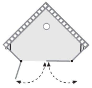 שרטוט מקלחון ליברס 2X2 K 4013
