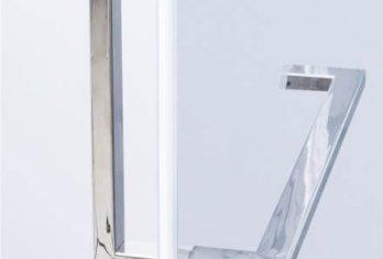 """מתלה מגבות מרובע + ידנית מק""""ט 97 - בגימור נירוסטה מבריק מגיע במידה קבועה 40 ס""""מ"""