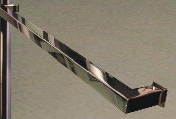 """מתלה מגבות מרובע מק""""ט 97 - בגימור נירוסטה מבריק מגיע במידה קבועה: 50 ס""""מ"""