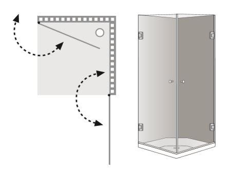 """שרטוט מקלחון A-Washington מק""""ט 8001"""