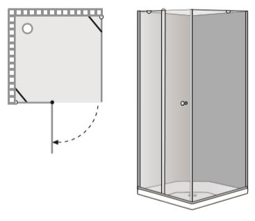 """שרטוט מקלחון B Donna-1 מק""""ט 2003"""
