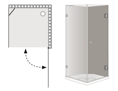 """שרטוט מקלחון B-New York מק""""ט 8006"""