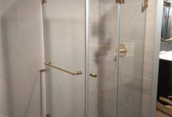 מקלחון עם פרזול סאטן מוברש